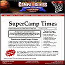 website for SuperCamps and SuperClinics Basketball Camps, Canandiagua, NY